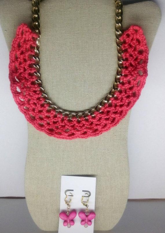 Collar Tejido A Crochet Etsy