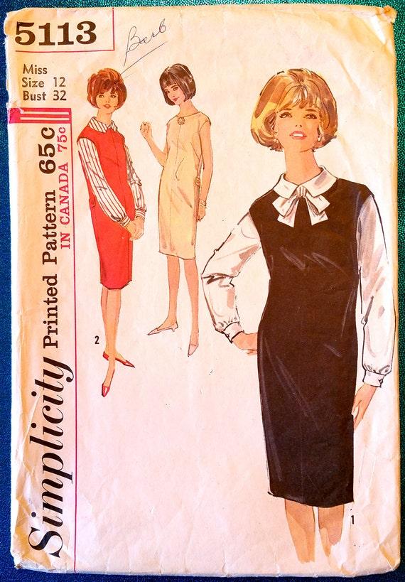 Vintage Anfang der 1960er Jahre Pullover Kleid Bluse | Etsy