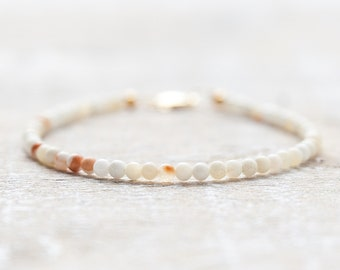 delicate jade bracelet / natural honey jade with choice of clasp material /  bridesmaid gift / gift for mom / girlfriend gift