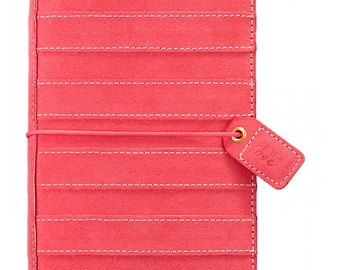 Webster's Pages Pink Suede Striped  Travelers Notebook