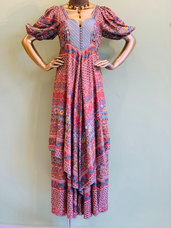 Anna Belinda 1970s silk dress