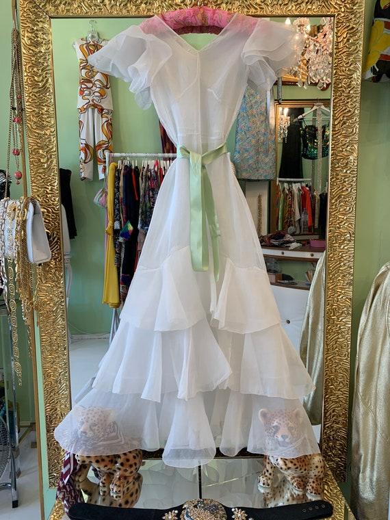 1930s sheer white dress