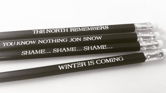 Hodor Game of Thrones Pencils Lord Winterfell John Snow quotes for birthdaygraduation OOAK
