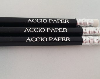 Harry Potter Pencils Accio Paper Spell Nerd Gift for Easter/Birthday
