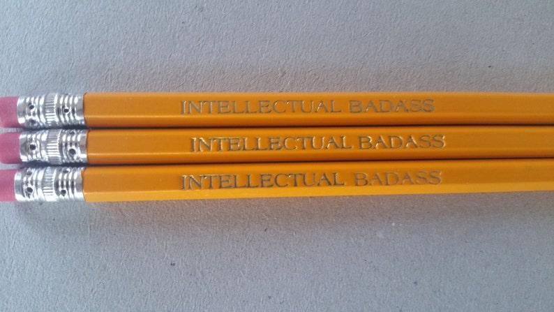 Intellectual Badass Pencils Back to School Party Favor image 0