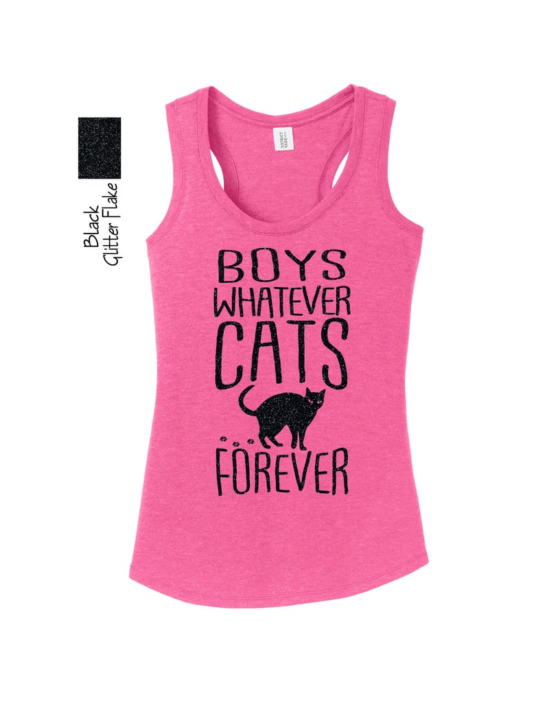 Boys Whatever Cats Forever DM138L Tank Top