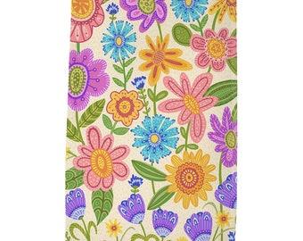 Garden Blooms Tea Towel - Light