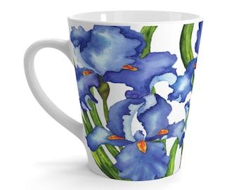 Bearded Iris Latte mug