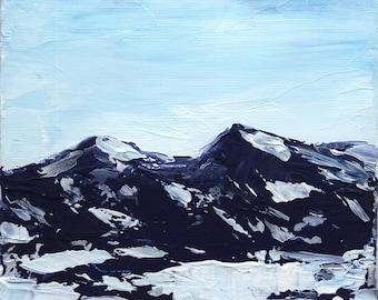 """Snow Day- 5x5"""" Original Acrylic Painting"""