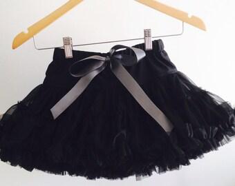 Sale, Black skirt, pettiskirt, tutu, skirt, ruffles,size 3-6, girl, black pettiskirt, elegant, dance, party, prop, full, layered skirt,