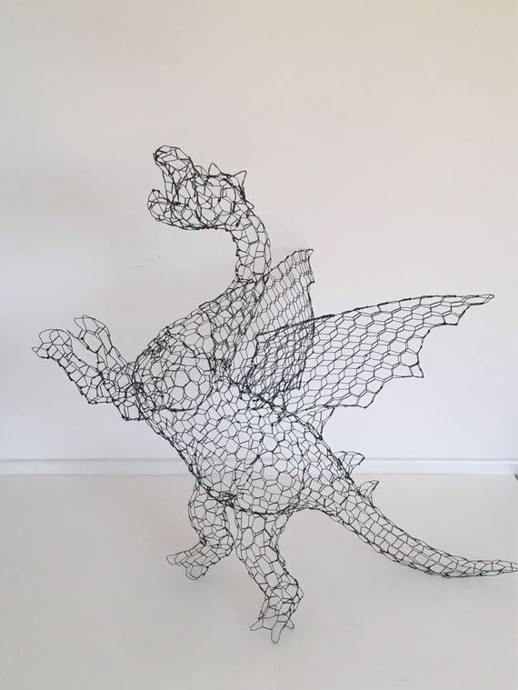 Medium dragon topiary frame | Etsy