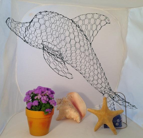 Small Dolphin Topiary Frame Etsy