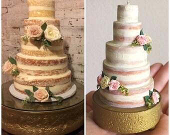 Wedding Cake Replica Wedding Cake Ornament 1st Anniversary | Etsy