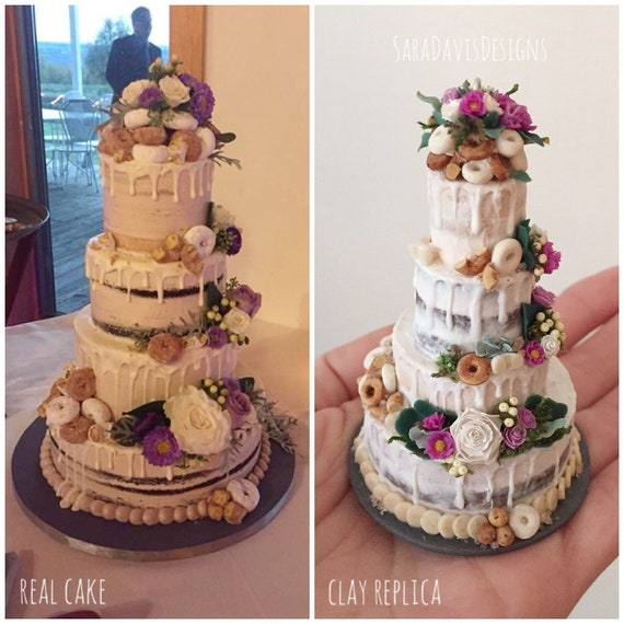 image 0 - Wedding Cake Replica Wedding Cake Ornament 1st Anniversary Etsy