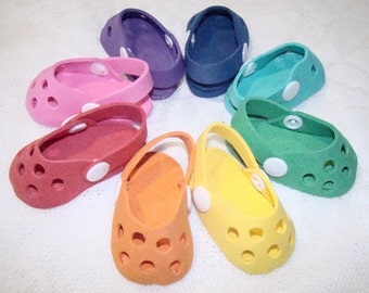 """Crocs for American Girl Dolls, Madame Alexander, Our Generation, Goetz & Most other 18"""" Dolls, Birthday Party Favors, Shoes, Accessories!"""