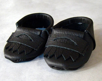 """Loafers in Black, Brown, or Gray; Doll Accessories for American Girl Doll, American Boy Doll or Any 18"""" Style Doll's Outfits - Doll Clothes"""