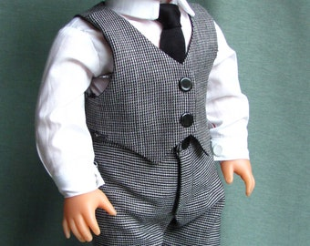 """Boys Formal Outfit -Fits 18"""" American Girl Dolls, Madame Alexander, Our Generation, etc. 18 Inch Doll Clothes"""
