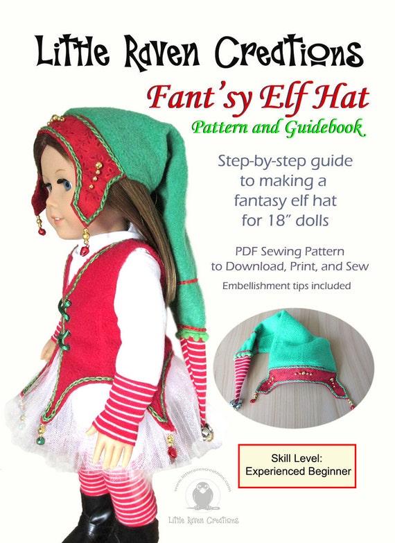 Fantsy Elf Hat Pdf Pattern For 18 Dolls Etsy
