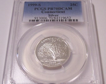 1993 S Proof John Kennedy Half Dollar With DIY Slab DCam Clad Combined Shipping