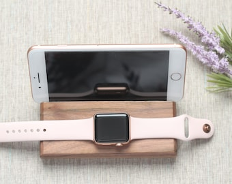 Personalized iPhone & Apple Watch Docking Station