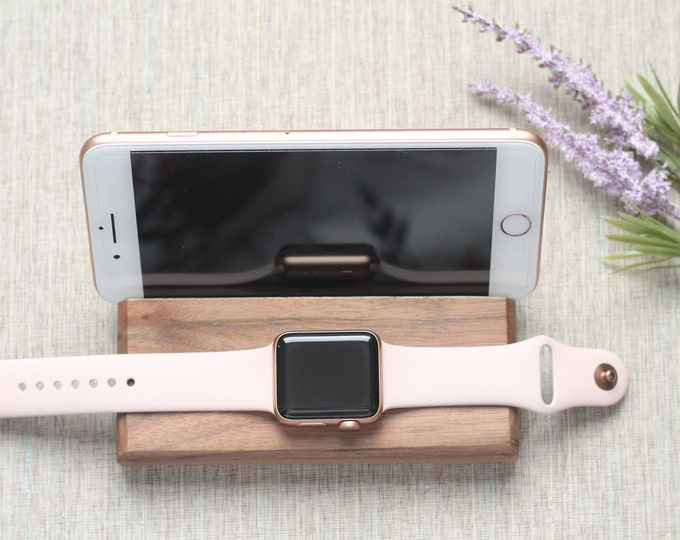 Featured listing image: Personalized iPhone & Apple Watch Docking Station