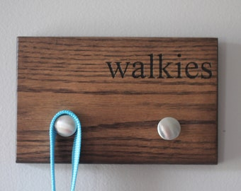 Walkies Wall Mounted Leash and Keys Rack