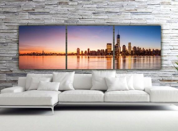 Sunset on New York City Canvas Art Large Canvas Wall Art New | Etsy