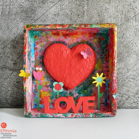 papier-mache type paper Flower pressed cards with envelopes rustic design