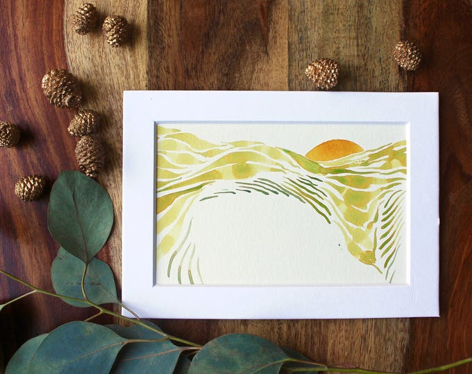 "Original Abstract Watercolor Painting | ""Green Valley"""