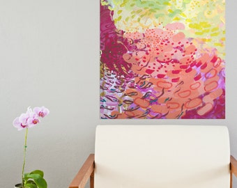 "Original Abstract Acrylic Painting | ""Downside of a Garden Breeze"""