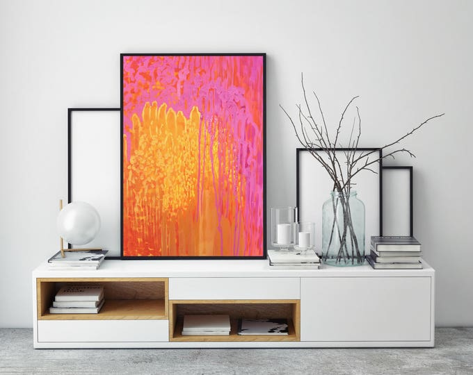 "Original Abstract Acrylic Painting | ""Molten Ledge"""