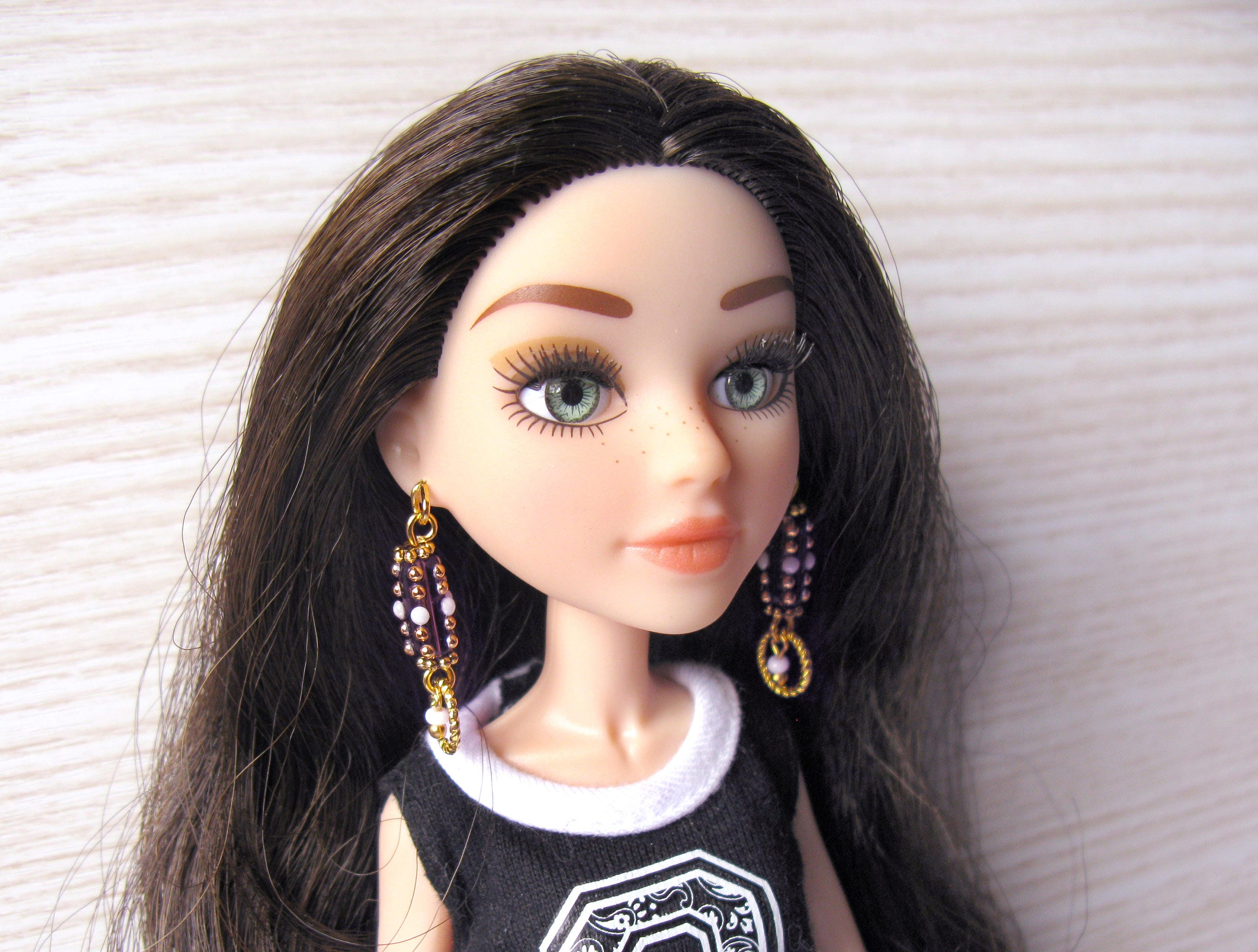 71150f90d Doll clothing jewelry 1 6 scale earrings