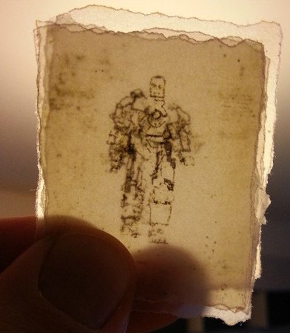 Iron man mark i 16 hot toys action figure scale blueprint etsy image 0 malvernweather Gallery