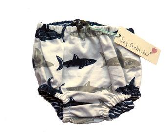 Nautical Shark Nappy / Diaper Cover