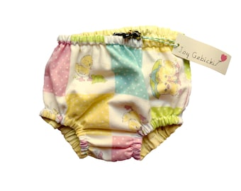 Vintage Pastel Baby Chick Diaper / Nappy Cover