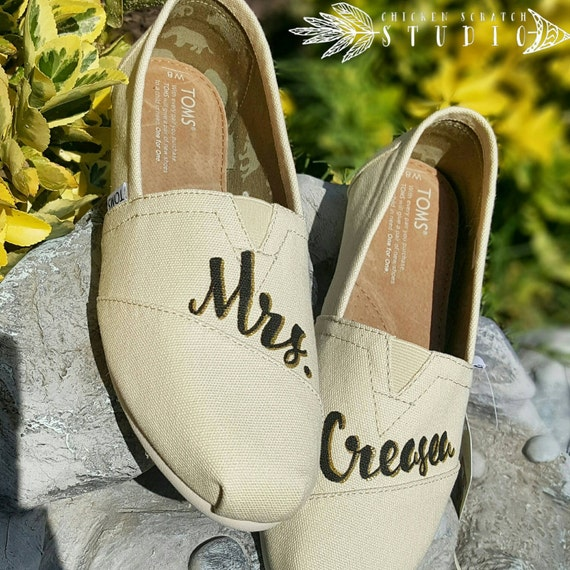 Custom Painted Bridal Wedding TOMS Shoes Free Shipping  fdf2998d98b0