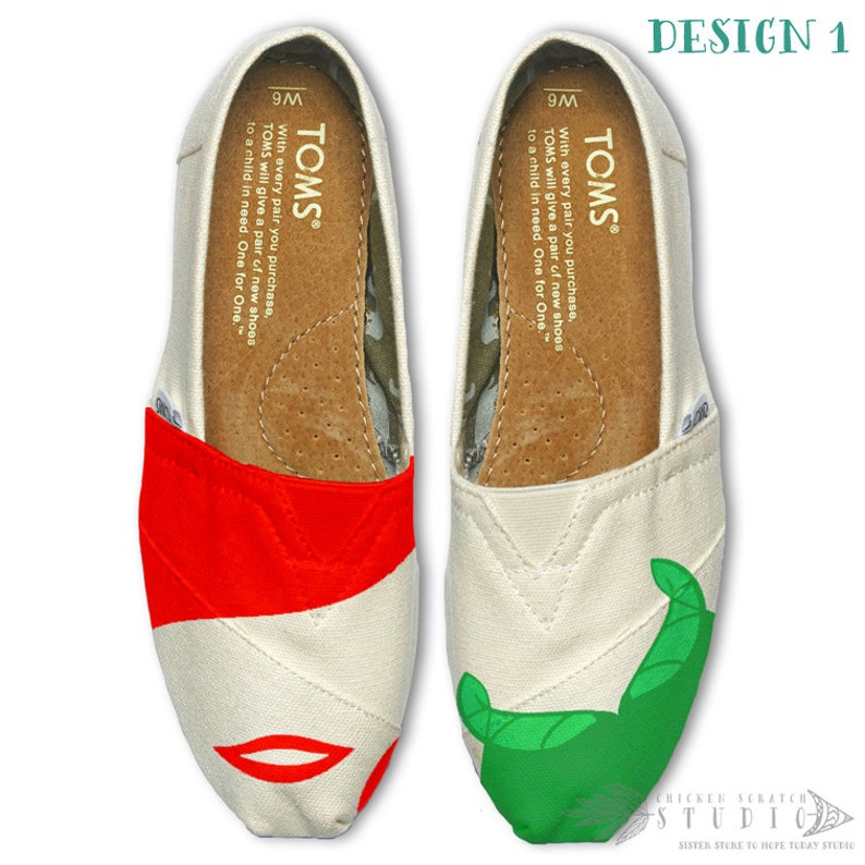 8a24b0f6a0d Custom Painted Little Mermaid TOMS Shoes Free Shipping