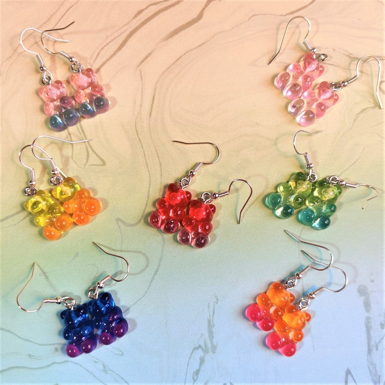 Glitter Gummy Bear Jewellery