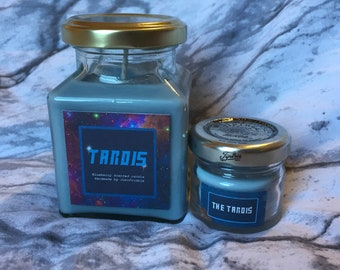Tardis inspired candle