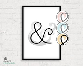Ampersand squared > printable instant download > typography print