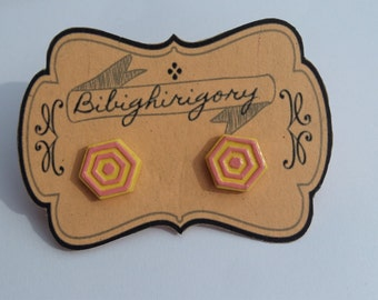 Hexagon modern earrings