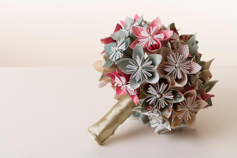 bouquet de fleurs en origami bouquet origami bouquet de etsy. Black Bedroom Furniture Sets. Home Design Ideas