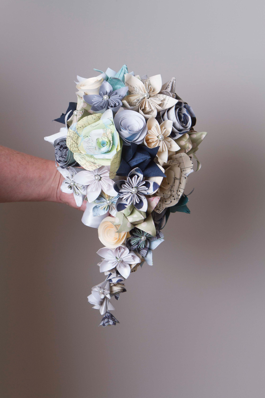 Cascading paper flower bouquet paper flower bouquet teardrop etsy zoom izmirmasajfo