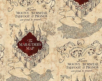 image about Printable Marauders Map known as Marauders map Etsy