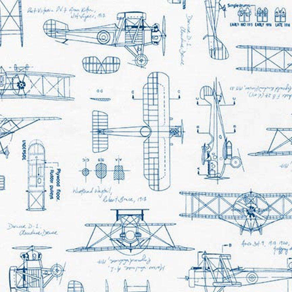 Vintage Blueprints Airplanes Blue Aeroplane Flight Plane Blue Travel ...