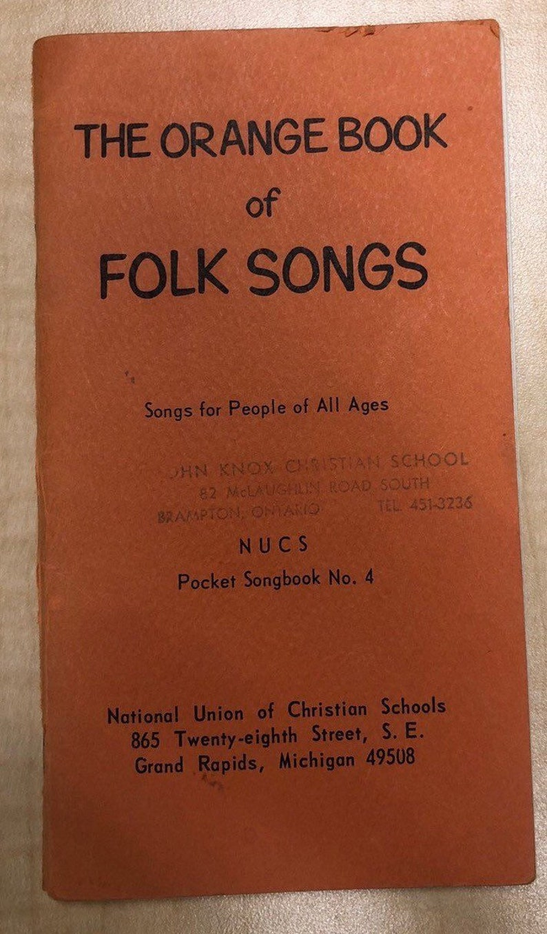 The Orange Book of Folk Songs Small song book