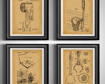 Bathroom Patent Art Traditional Shaving Mens Bathroom Decor Etsy