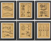 Star Trek Poster Starfleet Uniform Star Trek Art Star Trek Enterprise Apartment Decor Star Trek Wall Art USS Enterprise Set of 6 Prints
