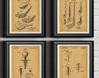 Vintage Golf Patent Print Golf Club Office Wall Art Golf Decor