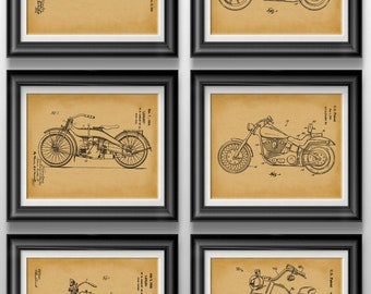 Harley Davidson Gift For Bike Lover Biker Motorcycle Gifts Mechanic Art Apartment Decor Man Cave Wall